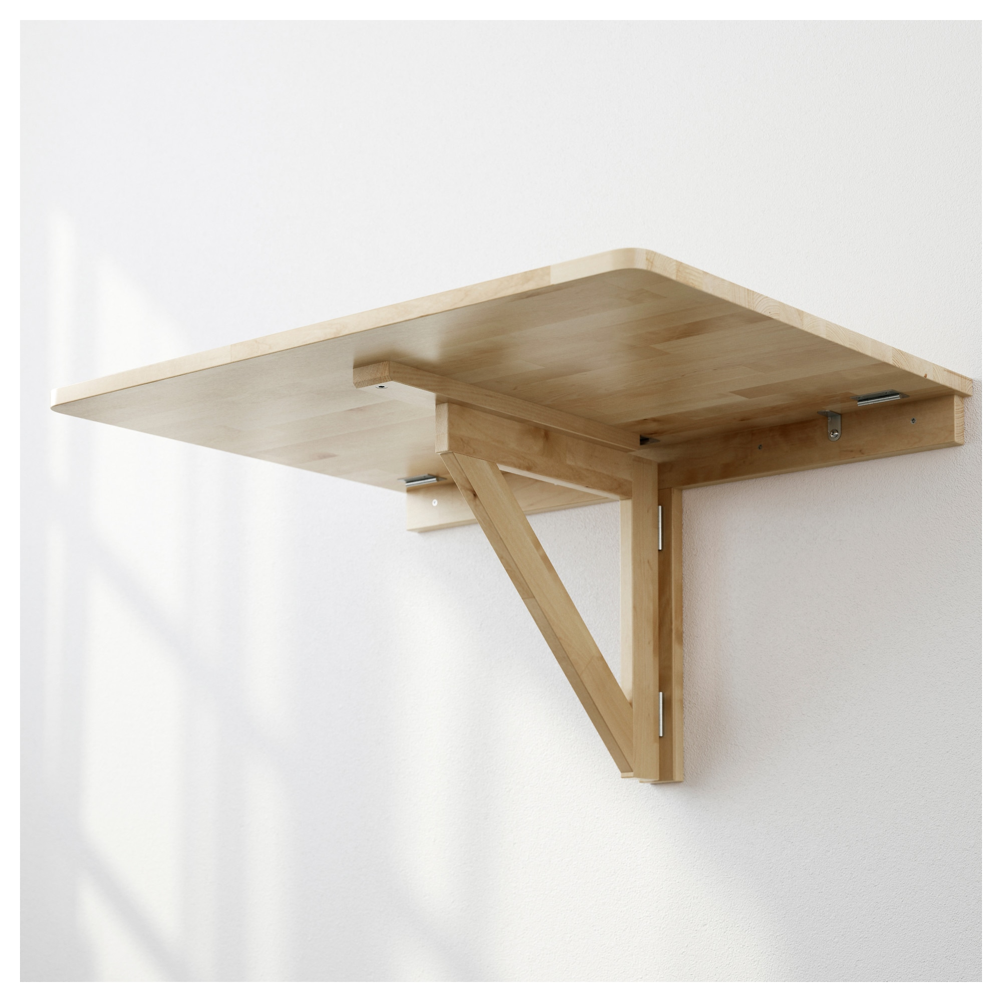 Wall mounted drop leaf tables on - Comment fixer un plan de travail au mur ...