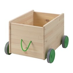 FLISAT toy storage with wheels Length: 44 cm Width: 39 cm Height: 31 cm