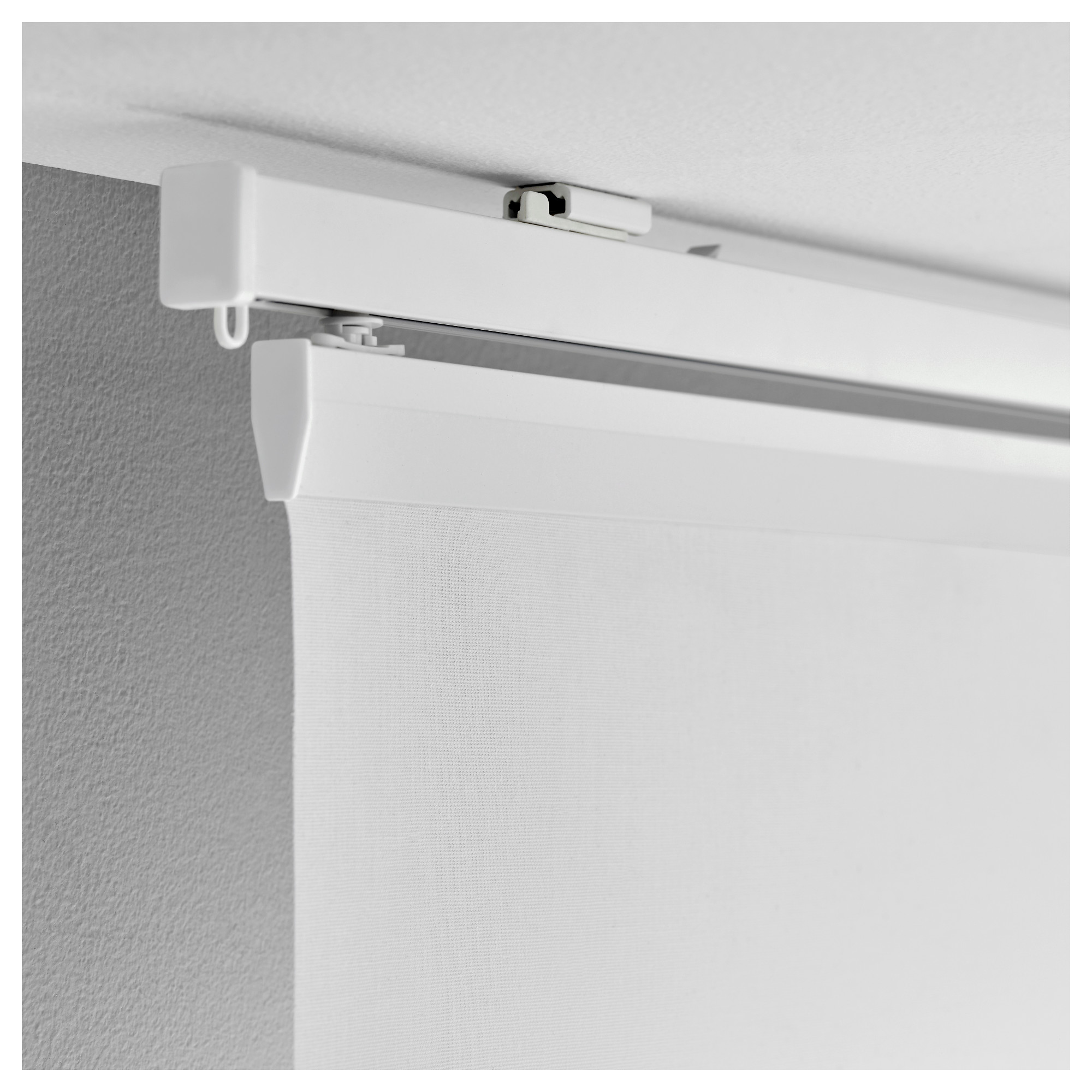 Ceiling mounted curtain track system - Vidga Ceiling Bracket White Height 1 4