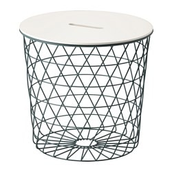 KVISTBRO storage table, turquoise Diameter: 44 cm Height: 42 cm