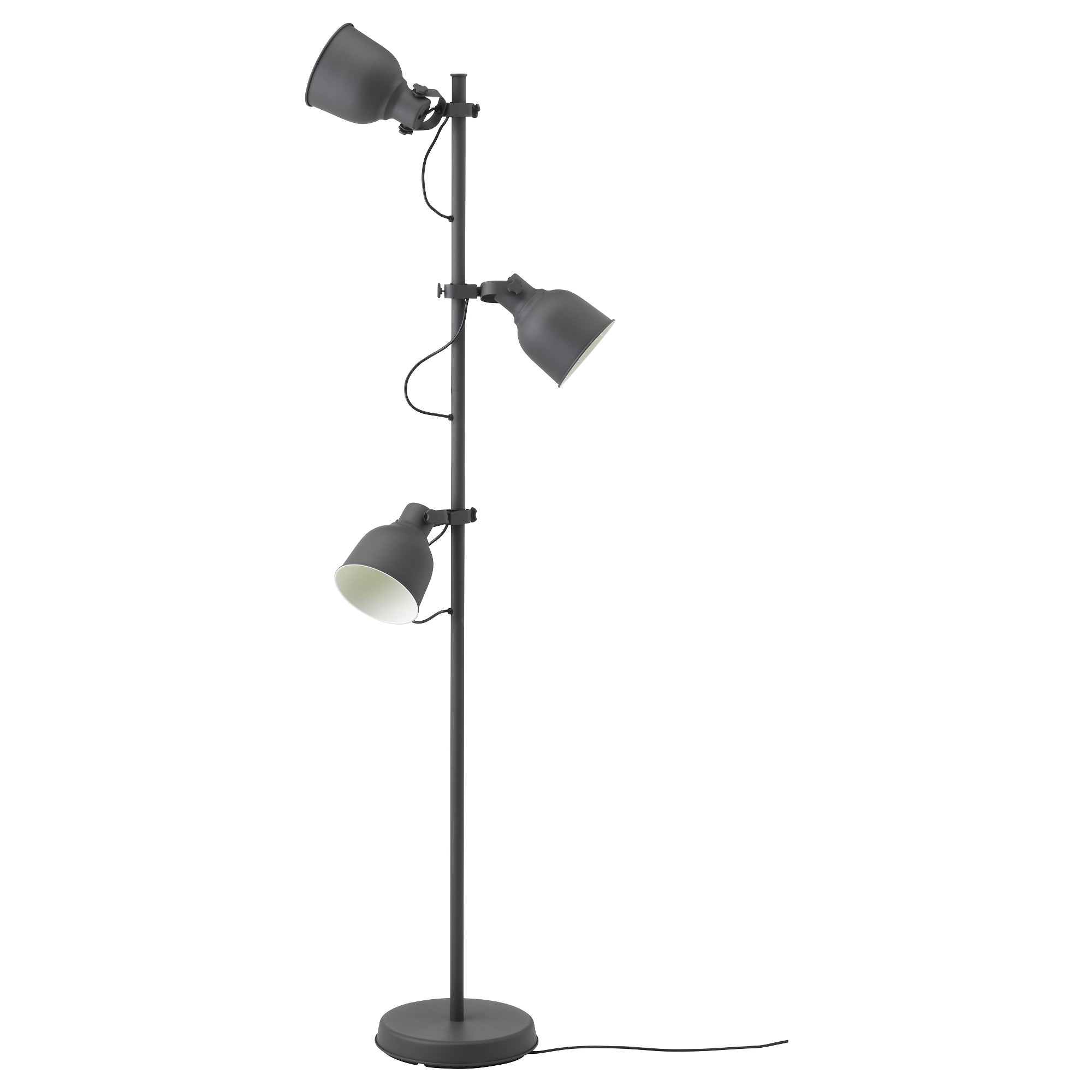 floor lamps  modern  contemporary floor lamps  ikea - hektar floor lamp with spotlights dark gray max  w height