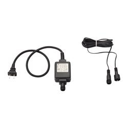 SKRUV transformer with cord, black, indoor Cord length: 5.0 m Power: 6 W