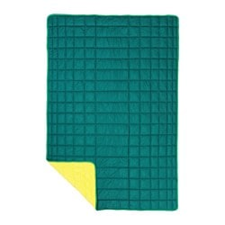 IKEA PS 2017 throw, green, yellow Length: 180 cm Width: 120 cm Filling weight: 215 g