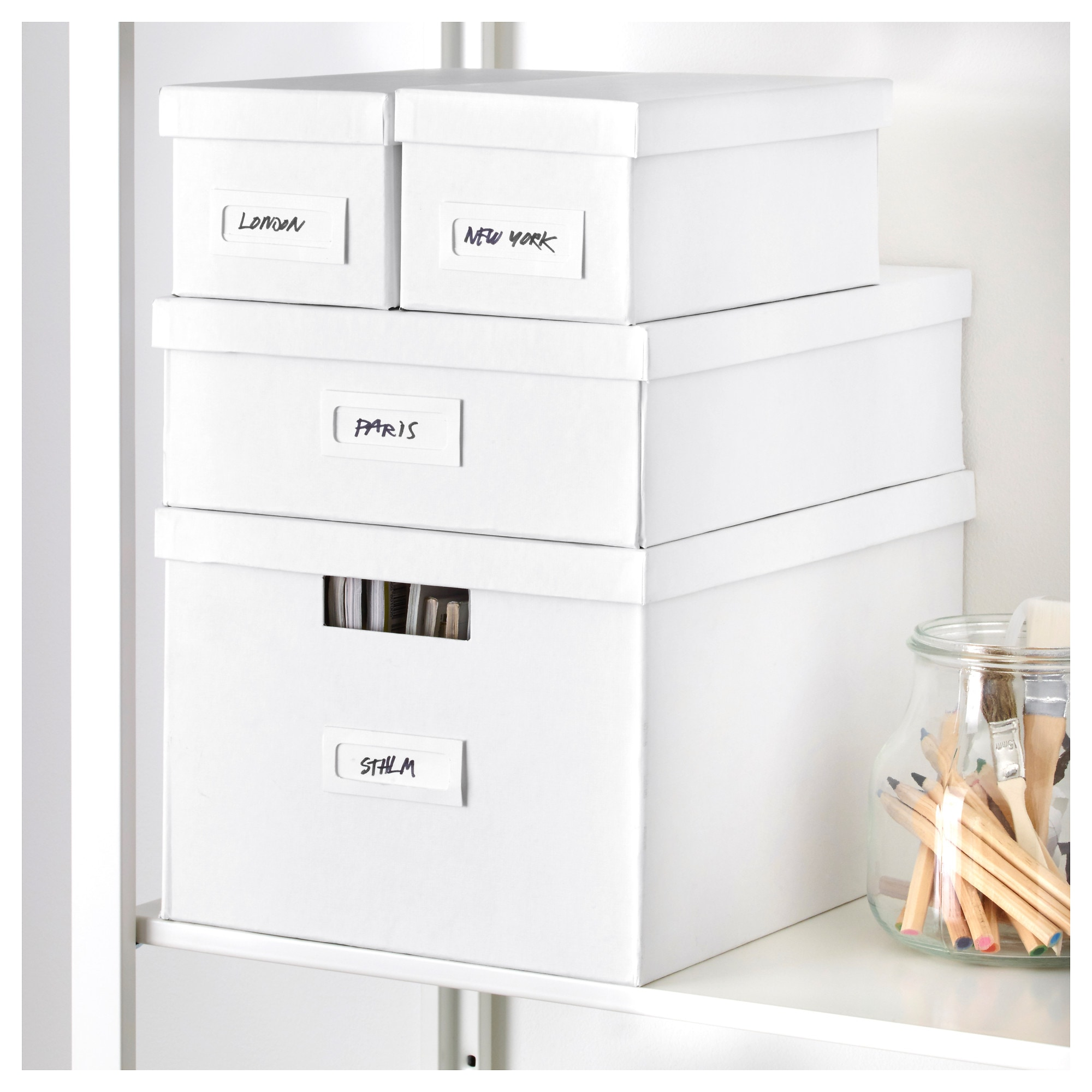 TJENA Box With Lid   White   IKEA