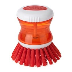 TÅRTSMET dish-washing brush with dispenser, red Diameter: 85 mm Height: 88 mm Volume: 31 ml