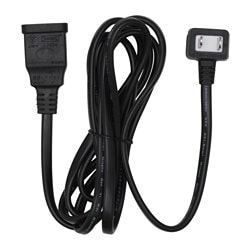 KOPPLA extension cord, unearthed black Cord length: 2 m