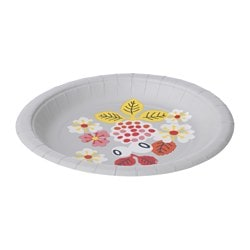 FÖRVANDLA disposable plate Diameter: 19.5 cm Package quantity: 10 pack