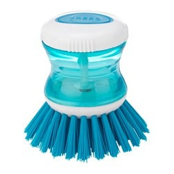 TÅRTSMET dish-washing brush with dispenser, blue Diameter: 85 mm Height: 88 mm Volume: 31 ml