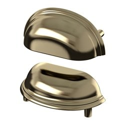 FÅGLEBODA handle, brass-colour Length: 85 mm Width: 37 mm Depth: 25 mm