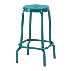 RÅSKOG bar stool, blue Tested for: 110 kg Seat diameter: 30 cm Width: 44 cm