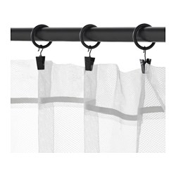 Syrlig Curtain Ring With Clip And Hook Black