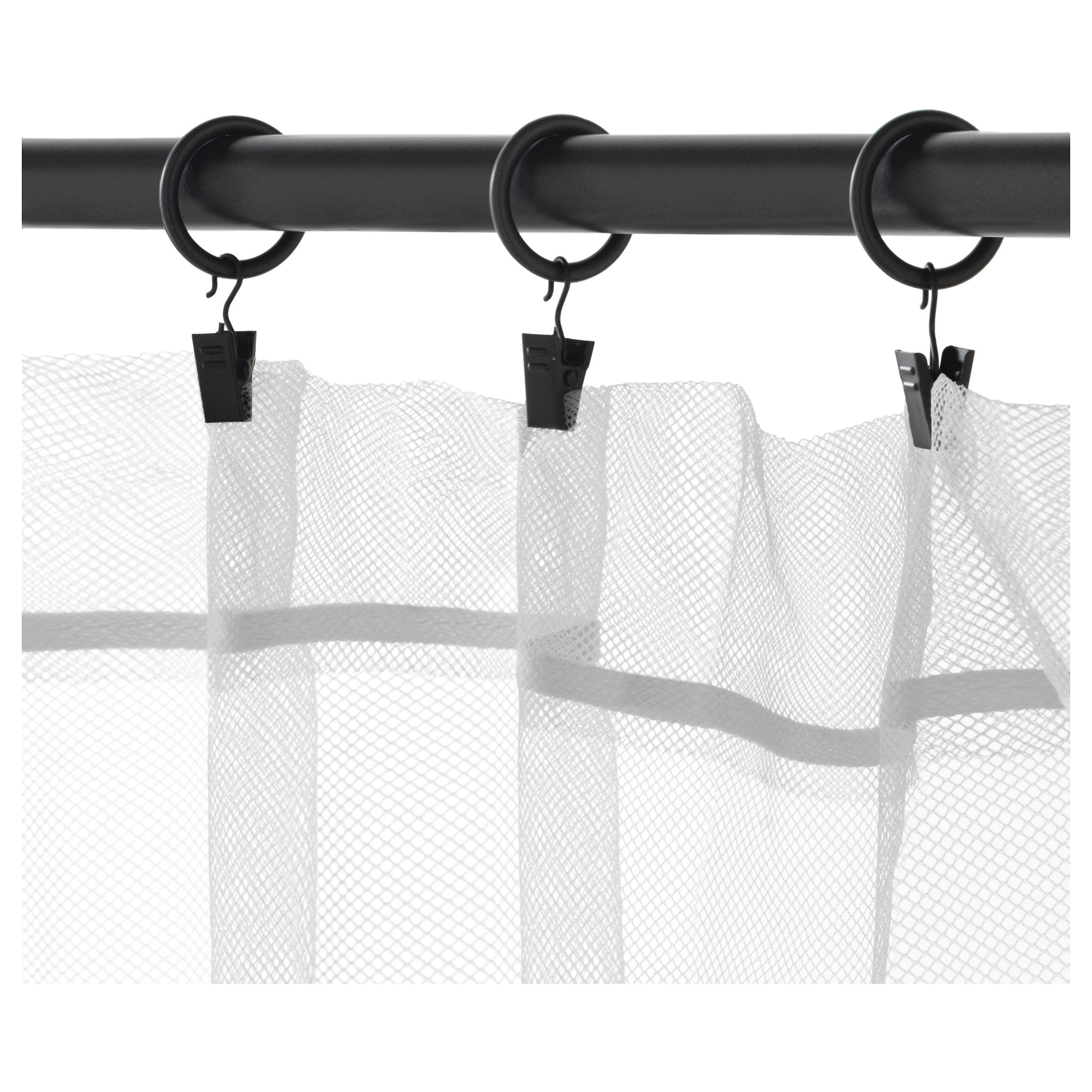 White curtain rings with clips - White Curtain Rings With Clips 4