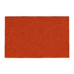 OPLEV door mat, in/outdoor orange Length: 80 cm Width: 50 cm Area: 0.40 m²