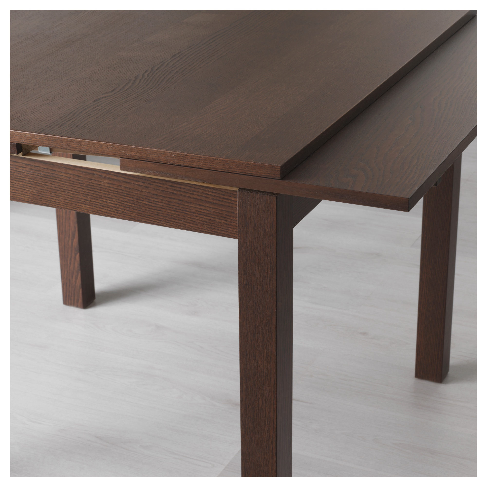 Extending Dining Room Table Mesmerizing Bjursta Extendable Table  Brown  Ikea Design Decoration