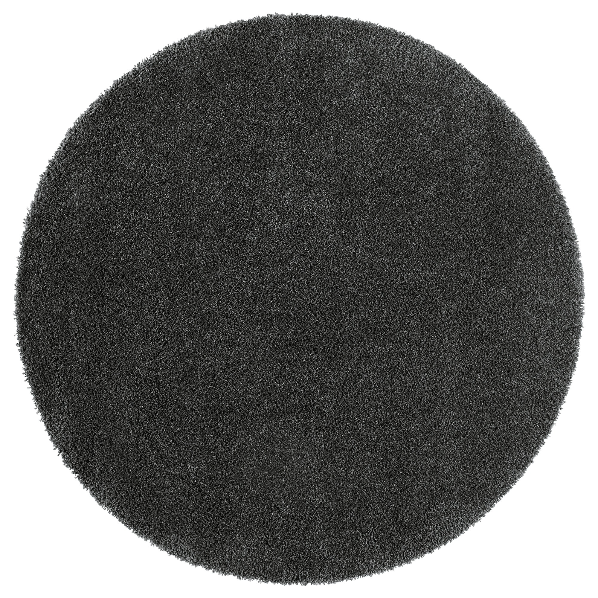 Dum Rug, High Pile, Dark Gray Diameter: 4 ' 3