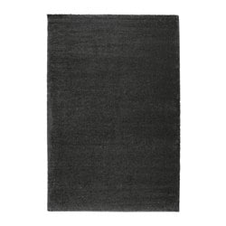 ÅDUM rug, high pile, dark grey