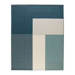 ROSKILDE rug, flatwoven, in/outdoor green-blue Length: 250 cm Width: 200 cm Thickness: 5 mm