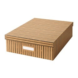 TJENA box with compartments, brown Width: 27 cm Depth: 35 cm Height: 10 cm