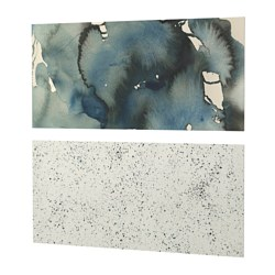 LYSEKIL wall panel, double sided clouds/dots Width: 119.6 cm Height: 55 cm Thickness: 0.2 cm