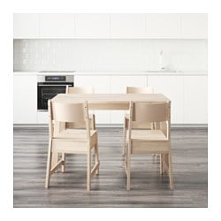 Genial NORRÅKER / NORRÅKER Table And 4 Chairs, White Birch, White Birch