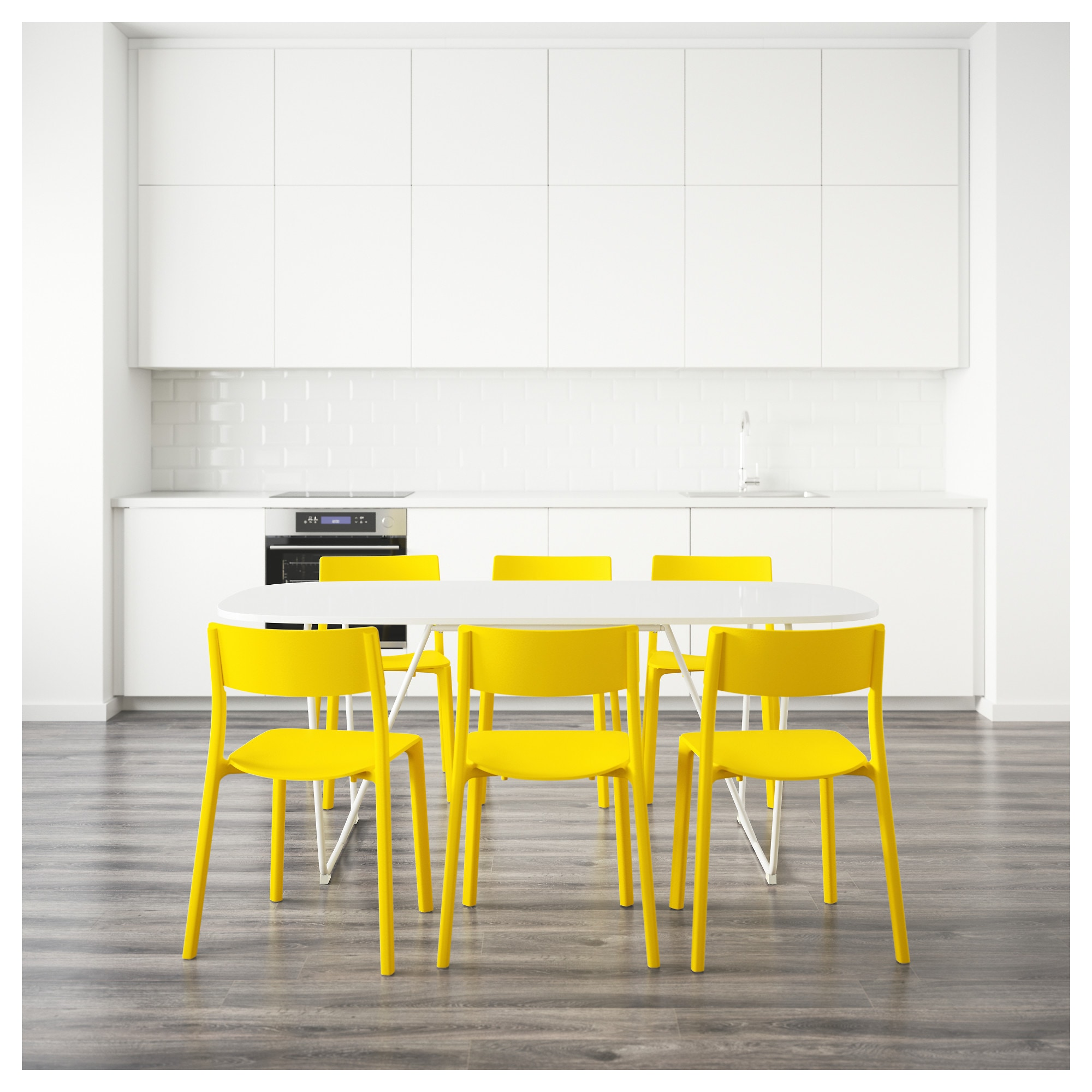 OPPEBY/BACKARYD / JANINGE Table and 6 chairs - IKEA