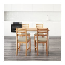 Lerhamn Table And 4 Chairs Light Antique Stain Vittaryd
