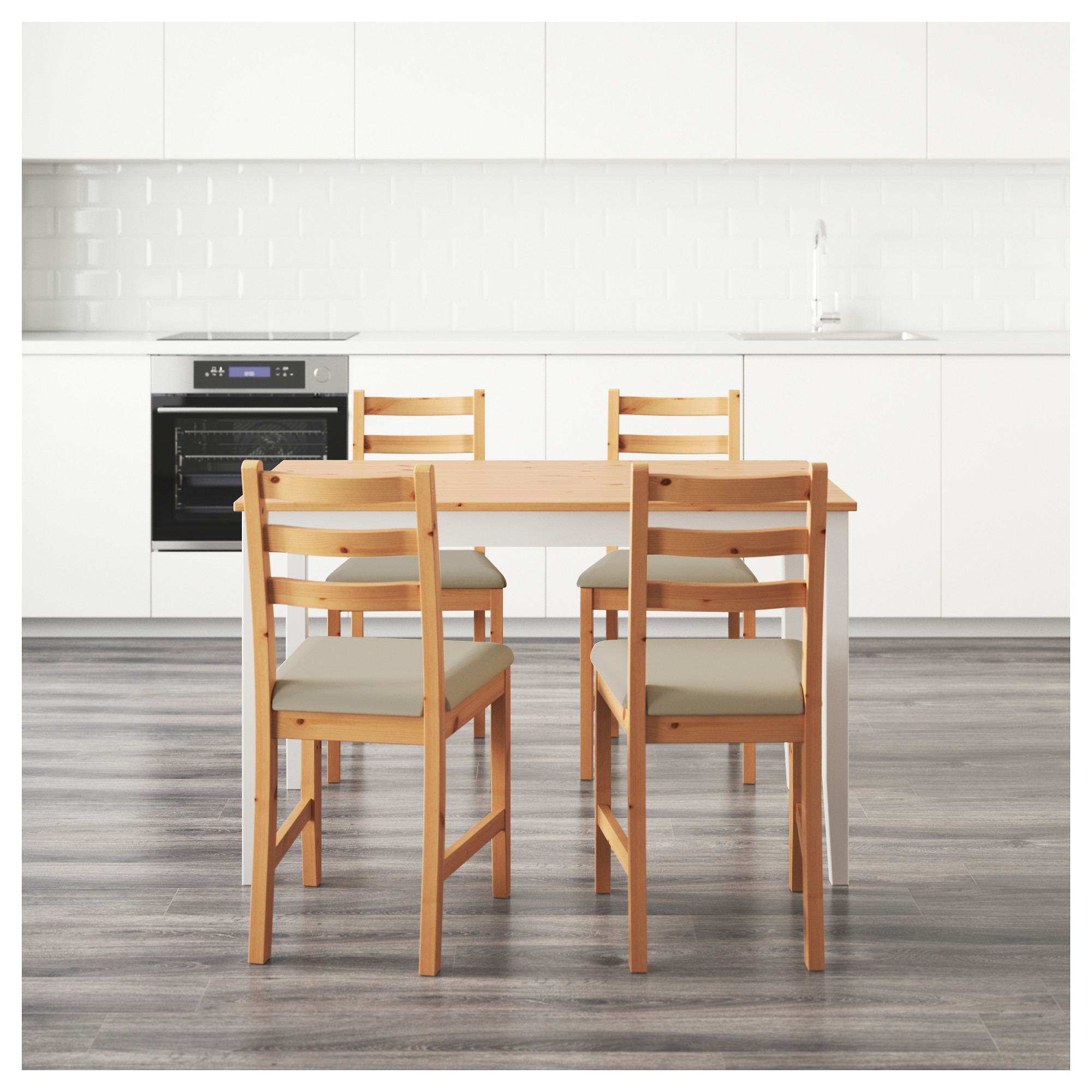 LERHAMN Table and 4 chairs IKEA