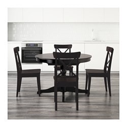 INGATORP Table And 4 Chairs, Black, Brown Black, ...