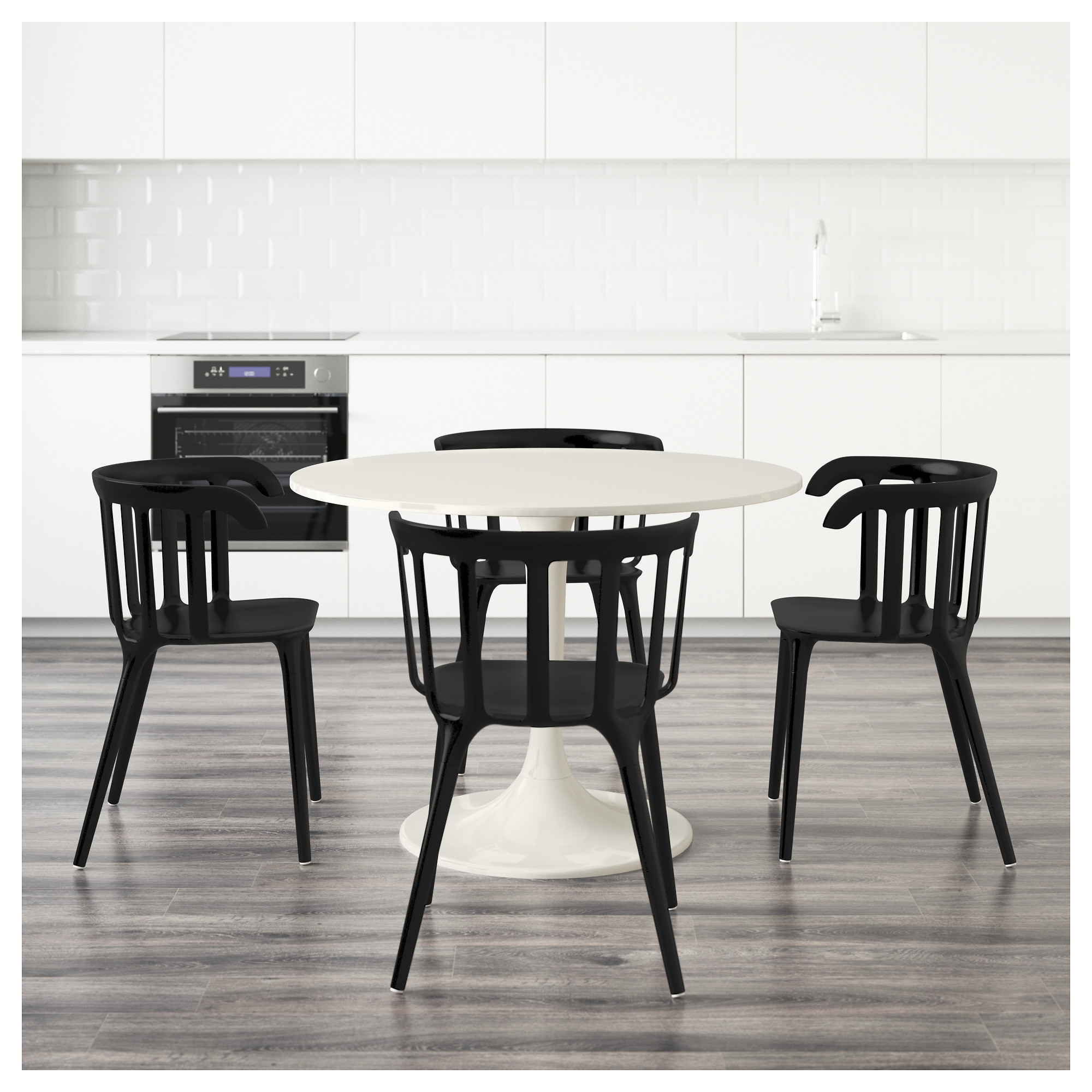 100 black and white dining table and chairs mia modern whit