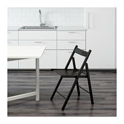TERJE Folding chair black  sc 1 st  Ikea : foling chairs - Cheerinfomania.Com
