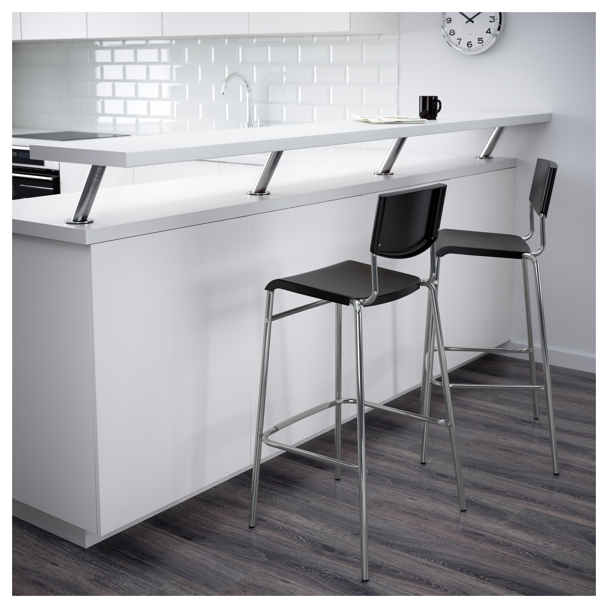 & STIG Bar stool with backrest - 24 3/4