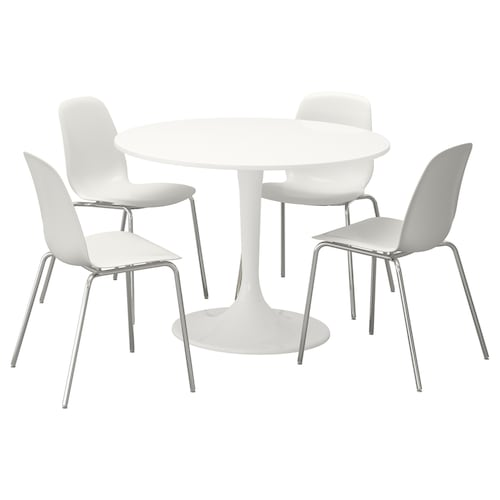 IKEA DOCKSTA / LEIFARNE Table and 4 chairs