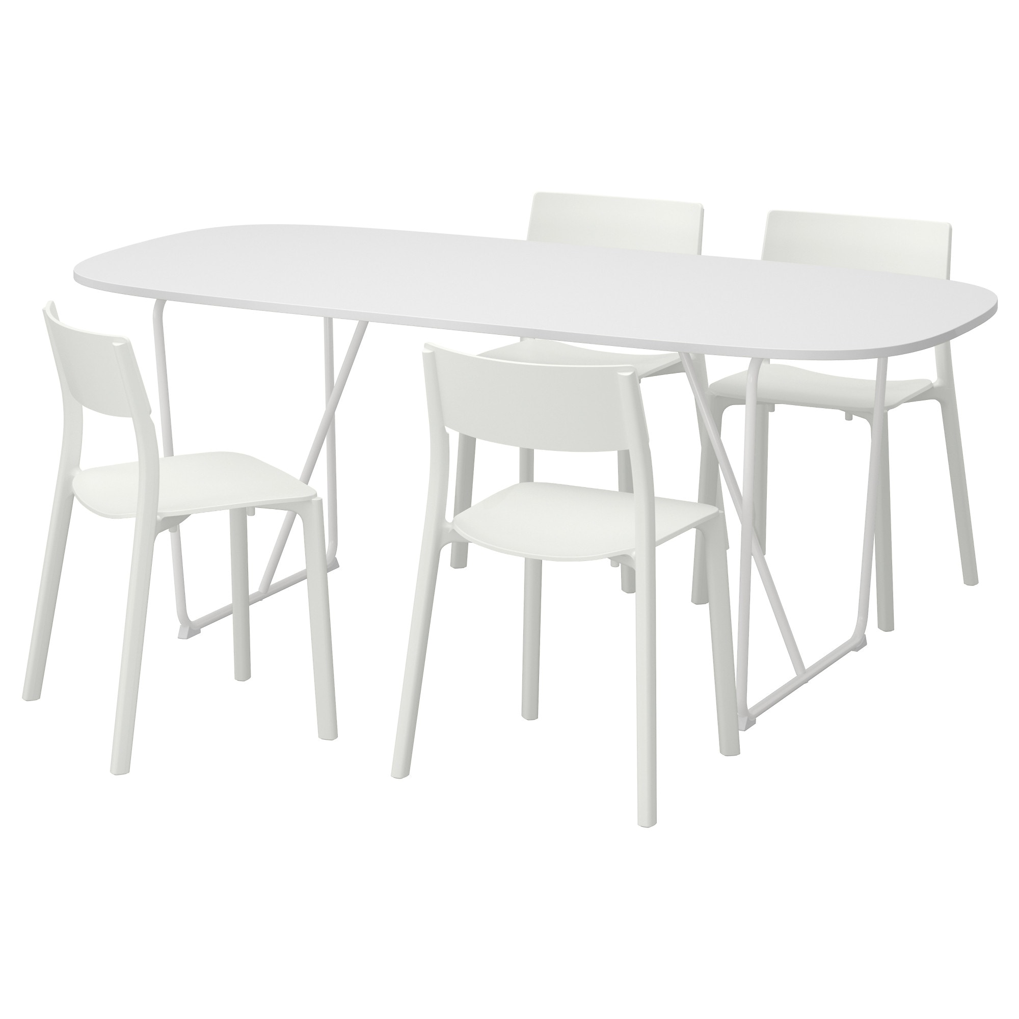 Ikea dining table white - Oppeby Backaryd Janinge Table And 4 Chairs White White Length 72
