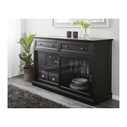 Perfect MALSJÖ Sideboard, Black Stained