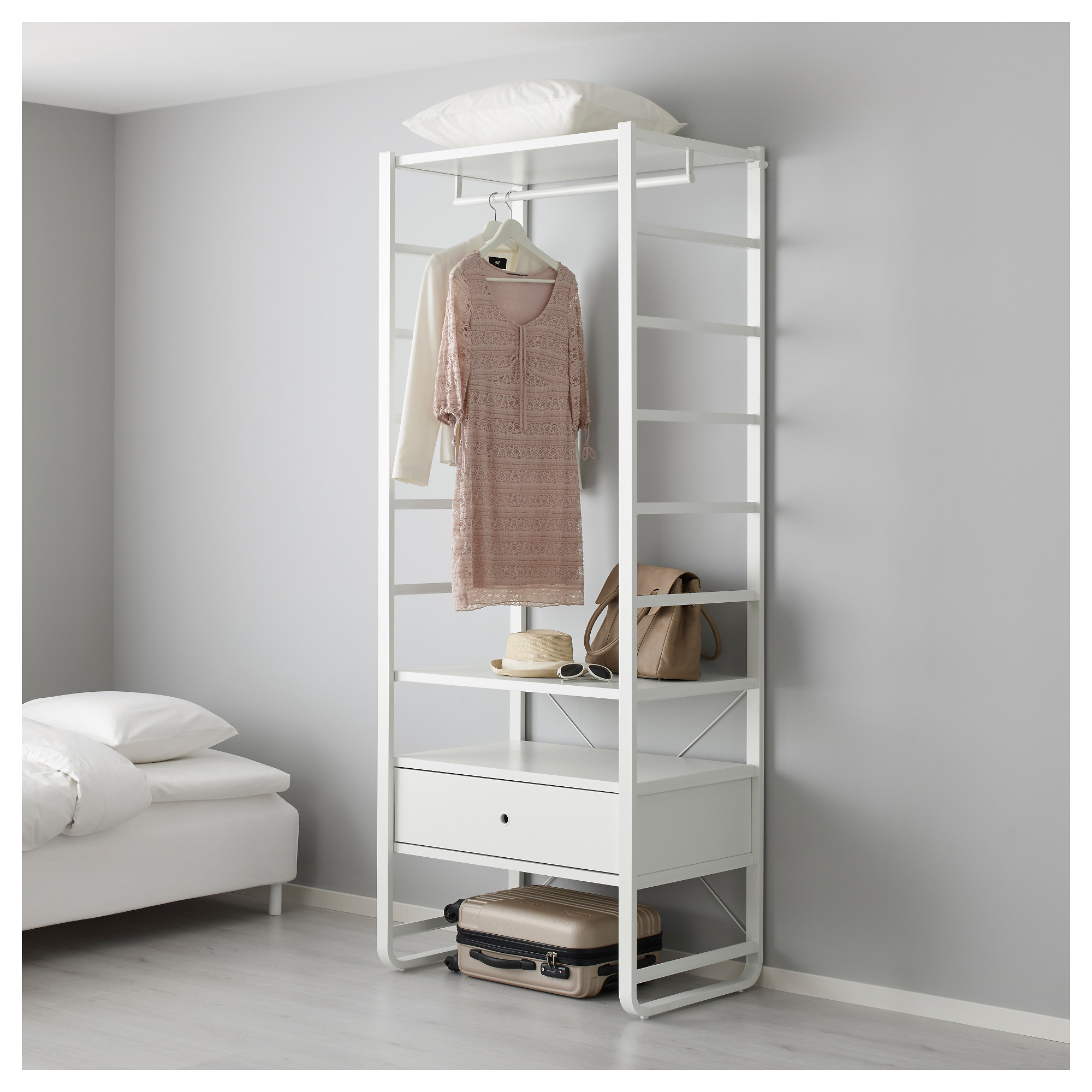 new york 38cff 2924a Shelf unit ELVARLI white