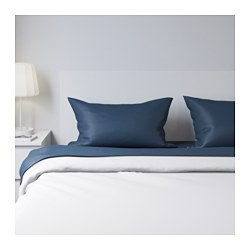 ULLVIDE sheet set, dark blue Thread count: 200 square inches Thread count: 200 square inches