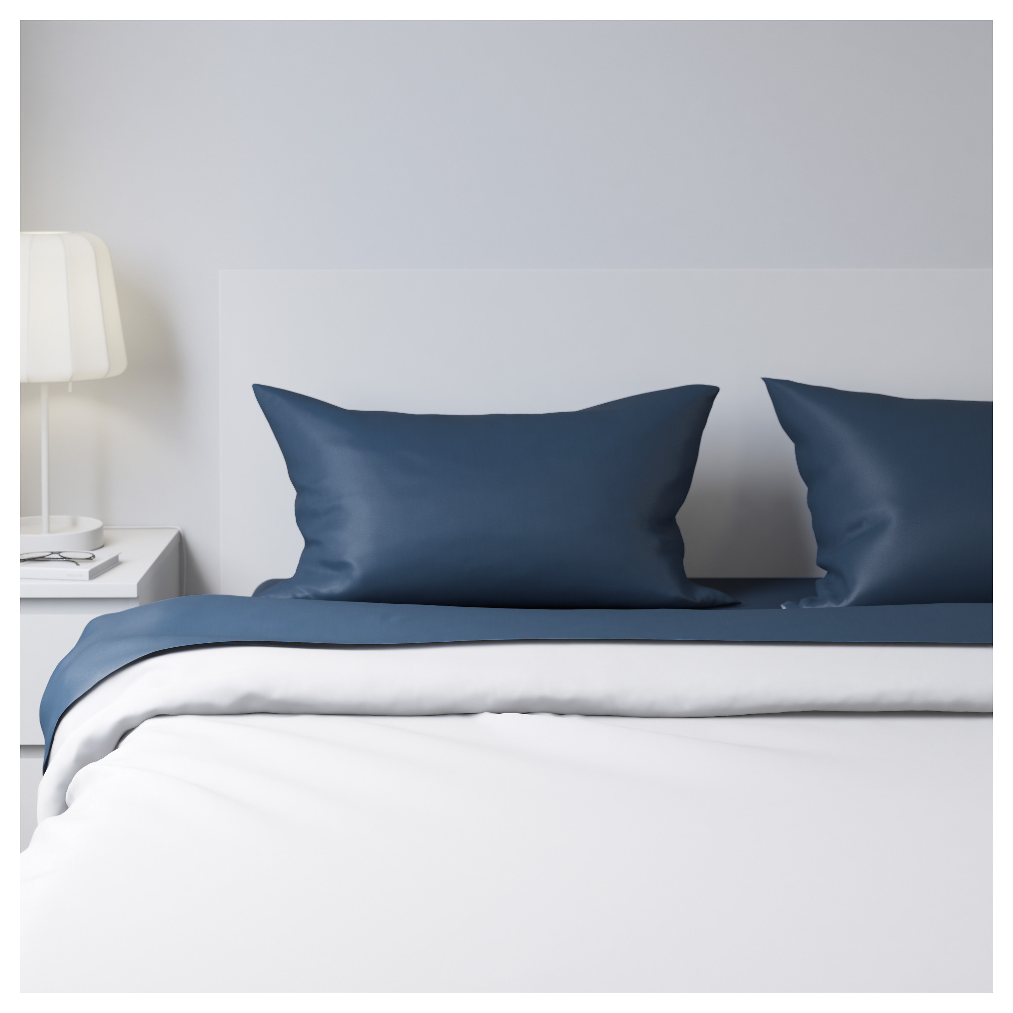 ULLVIDE sheet set, dark blue Thread count: 200 /inch Thread count: 200