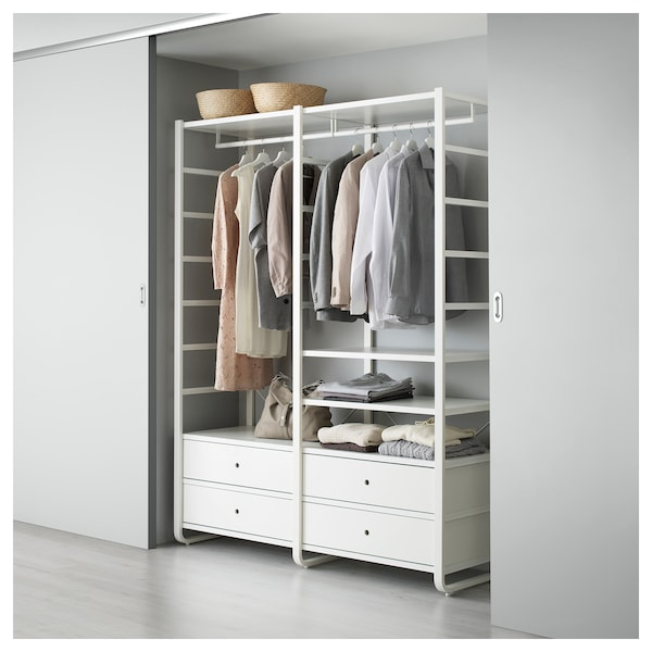outlet store d4027 b3e5f ELVARLI 2 section shelving unit, white