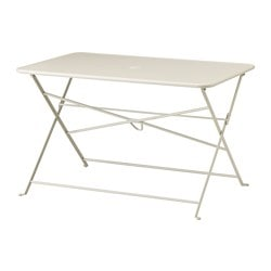 SALTHOLMEN table, outdoor, foldable beige