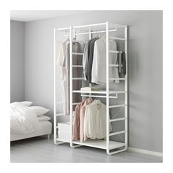 ELVARLI, 2 section shelving unit, white