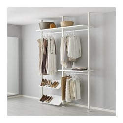 Elvarli 2 Section Shelving Unit White