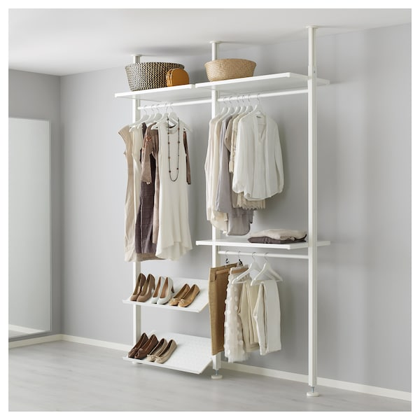 timeless design 54f7c 10235 2 section shelving unit ELVARLI white