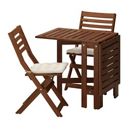 ÄpplarÖ Table And 2 Folding Chairs Outdoor