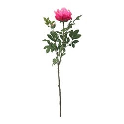 SMYCKA artificial flower, Peony, dark pink