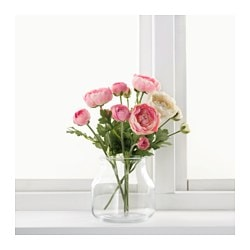 SMYCKA artificial flower, Ranunculus, white