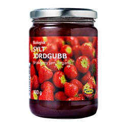 SYLT JORDGUBB, Strawberry jam, organic