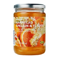 MARMELAD APELSIN & FLÄDER, Orange- and elderflower marmalade, organic