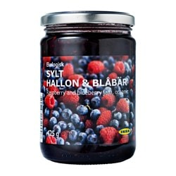 SYLT HALLON & BLÅBÄR rasp- and blueberry jam Net weight: 425 g
