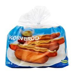 KORVBRÖD pečivo na hot dog, mraž.