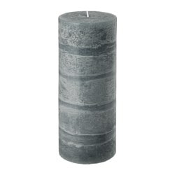 "VAKANT scented block candle, Autumn days gray, gray Diameter: 3 ¾ "" Height: 9 ¾ "" Burning time: 80 hr Diameter: 9.8 cm Height: 25 cm Burning time: 80 hr"